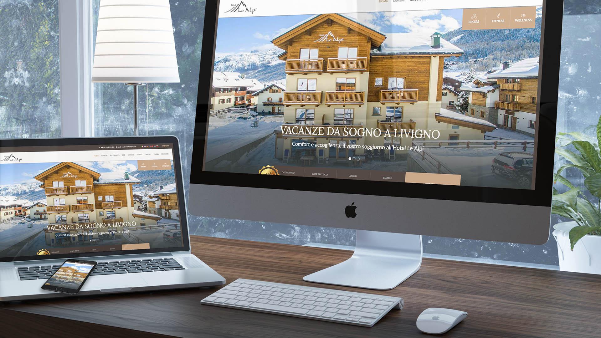 Progettazione Sito Web | Hotel le Alpi Livigno